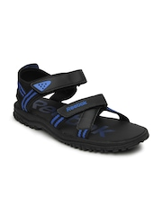Reebok Men Black & Blue Road Connect II LP Sports Sandals