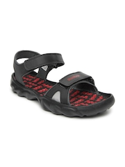 Reebok Men Black Super Drive 2.0 LP Sports Sandals
