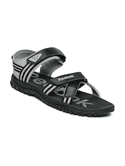 Reebok Men Black Road Connect II LP Sports Sandals