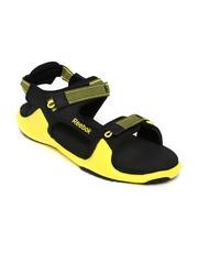 Reebok Men Black & Yellow Sports Sandals