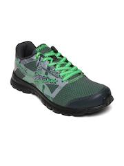Reebok Men Grey & Green Rhythm Race LP Running Shoes