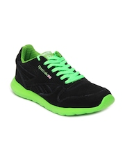 Reebok Men Black Leather Tech Sports Shoes