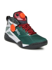 Reebok Men Green Blacktop Retaliate Basketball Shoes