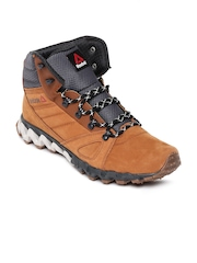 Reebok Men Brown Leather Zignano Retro Trek Outdoor Shoes