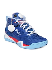 Reebok Men Blue Blacktop Retaliate Basketball Shoes