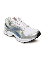 Reebok Men Silver-Toned & White Runtone Doheny LP Running Shoes