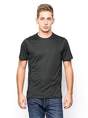 Reebok Men Charcoal Grey T-shirt
