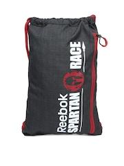 Reebok Unisex Black Spartan Gym String Bag