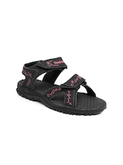 Reebok Women Black Thrust Sports Sandals