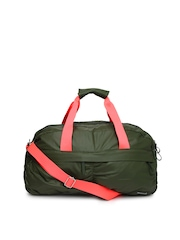 Reebok Women Olive Green Duffle Bag