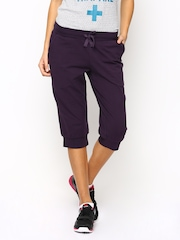 Reebok Women Purple Cuffed Capris
