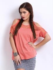 Remanika Women Peach-Coloured Top
