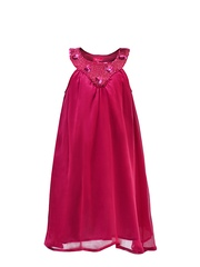 Renee Girls Magenta Shift Dress