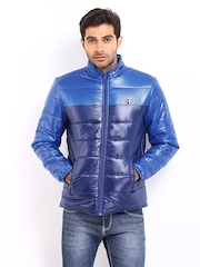 Republic of Speil Men Blue Padded Jacket