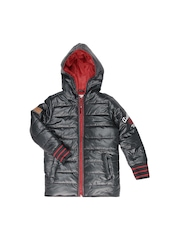 Republic of Spiel Boys Grey Hooded Jacket