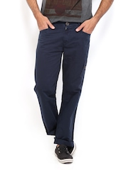 Republic of Spiel Men Navy Slim Fit Trousers
