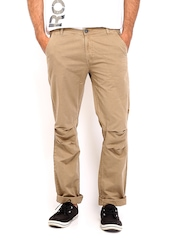 Republic of Spiel Men Brown Slim Fit Trousers