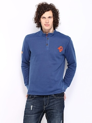 Republic of Spiel Men Dark Blue Combat Sweatshirt