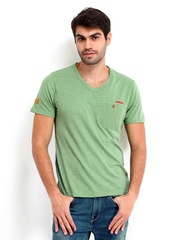 Republic of Spiel Men Green T-shirt
