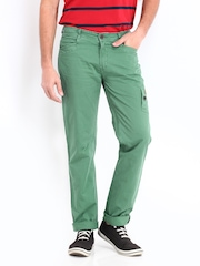 Republic of Spiel Men Green Slim Fit Trousers