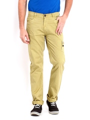 Republic of Spiel Men Khaki Slim Fit Trousers