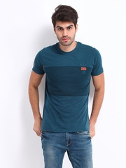 Republic of Spiel Men Blue Gale T-shirt