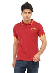 Republic of Spiel Men Red Eldorado Polo T-shirt