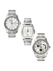 Rico Sordi Men Silver-Toned Set of 3 Watches