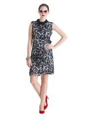 Rinku Dalamal for Stylista Black & White In And Out Of Love Shift Dress