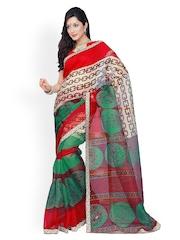 Riti Riwaz Multicoloured Super Net Printed Saree