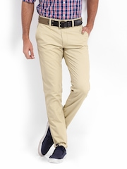 Roadster Men Beige Torino Slim Fit Trousers