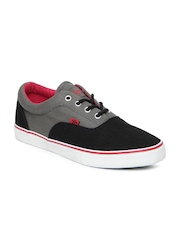 Roadster Men Black & Dark Grey Casual Shoes
