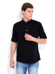 Roadster Men Black Adam Slim Fit Casual Shirt