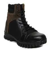 Roadster Men Black & Brown Boots