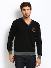 Roadster Men Black Royal Sweater