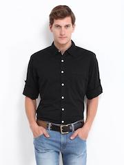 Roadster Men Black Shelby Slim Fit Casual Shirt