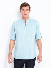 Roadster Men Blue Adam Slim Fit Casual Shirt