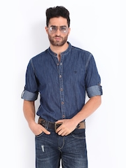Roadster Men Blue Denim Casual Shirt