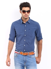 Roadster Men Blue Vettel Shelby Slim Fit Casual Shirt