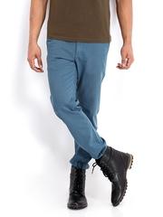 Roadster Men Blue Torino Slim Fit Chino Trousers