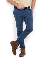 Roadster Men Blue Torino Slim Fit Trousers