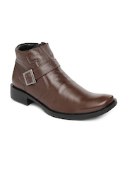 Roadster Men Teak Brown Leather Boots