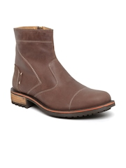Roadster Men Brown Leather Boots