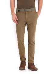 Roadster Men Brown Torino Slim Fit Trousers