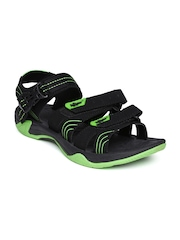 Roadster Men Black & Green Sports Sandals