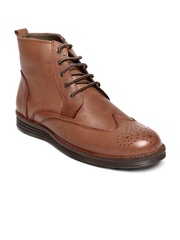 Roadster Men Tan Brown Leather Boots