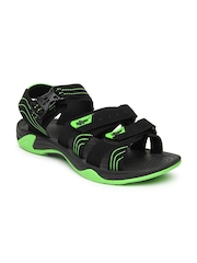 Men Black Sports Sandals Roadster