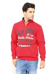 Roadster Men Chilli Red Printed Sweatshirt