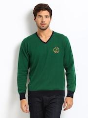 Roadster Men Green Royal Sweater