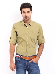 Roadster Men Khaki Shelby Slim Fit Casual Shirt